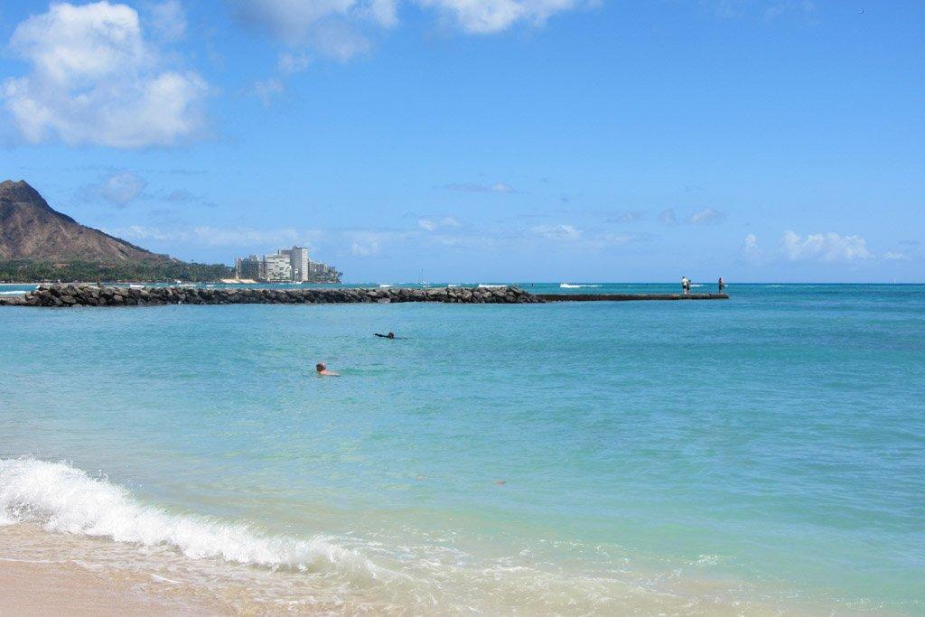 Waikiki Beach, Oahu, Hawaii, Waikiki, Diamond Head