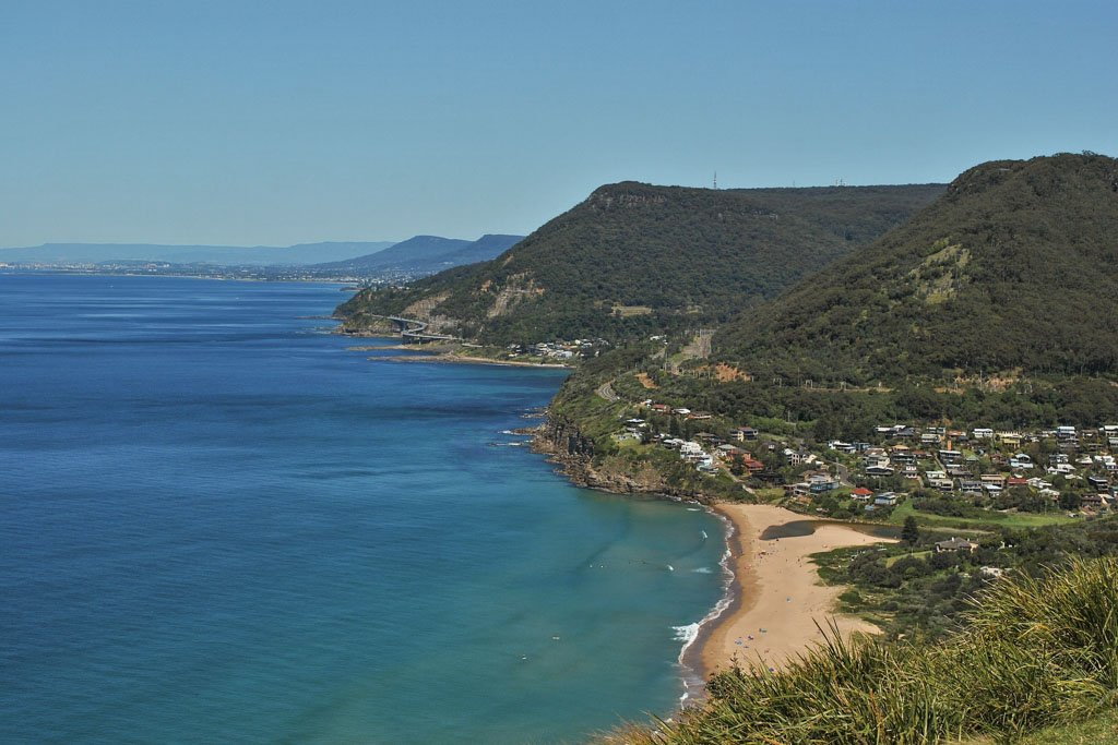Grand Pacific Drive, New South Wales, Australia, Bald Hill, Sea Cliff Bridge