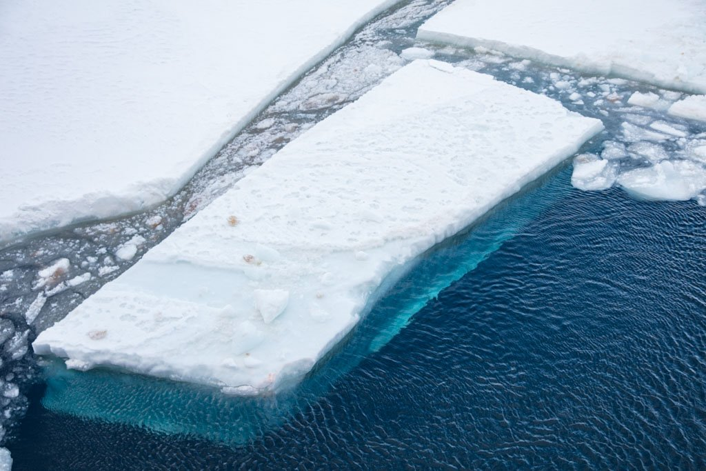 Ice floe, McMurdo Sound, Antarctica