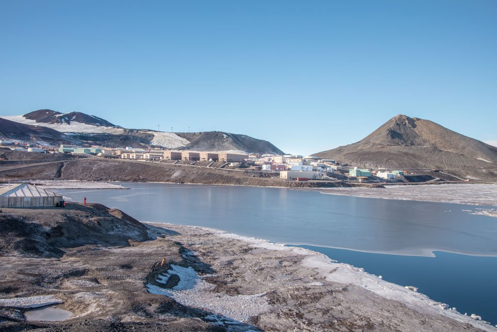 Observation Hill and McMurdo Station, Ross Island, Antarctica, McMurdo Station, Observation Hill, Ross Island