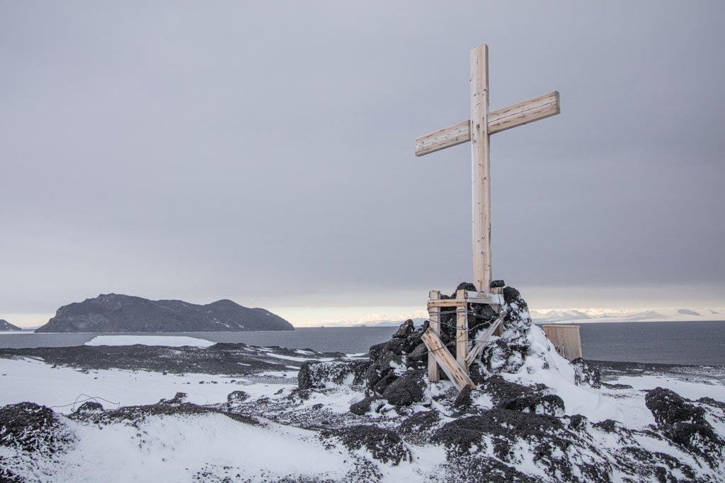 Shackleton Party Cross, Scott's Hut, Cape Evans, McMurdo Sound, Antarctica, Cape Evans Cross, Scott's Hut Cross