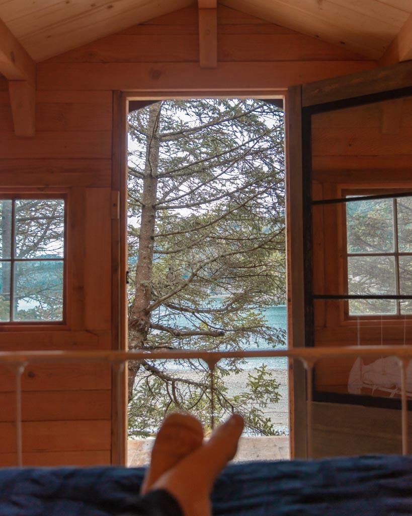 Beachcomber Cabin, Between Beaches, MacDonald Spit, Kachemak Bay, Kasitsna Bay, Kenai Peninsula, Alaska