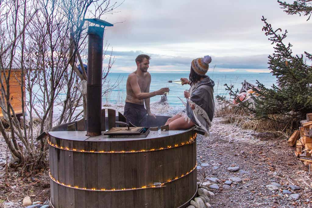 Hot Tub, Between Beaches, MacDonald Spit, Alaska