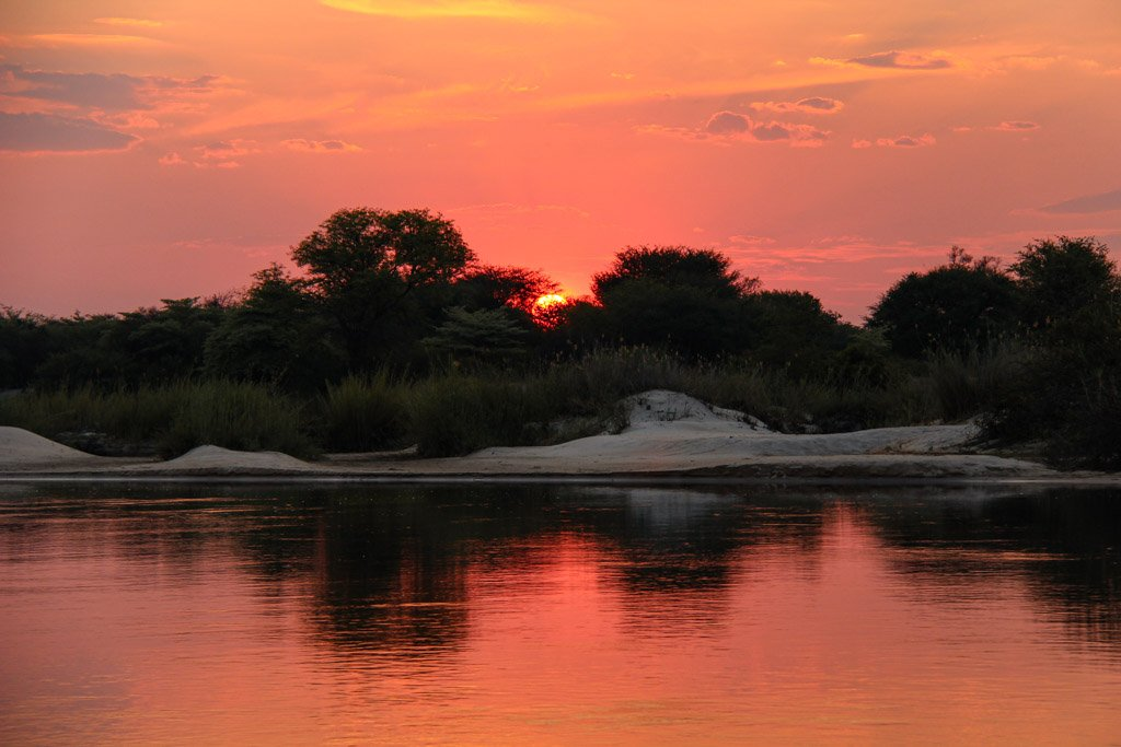 Okavango River, Mahango Game Reserve, Bwabwata National Park, Caprivi Strip, Namibia