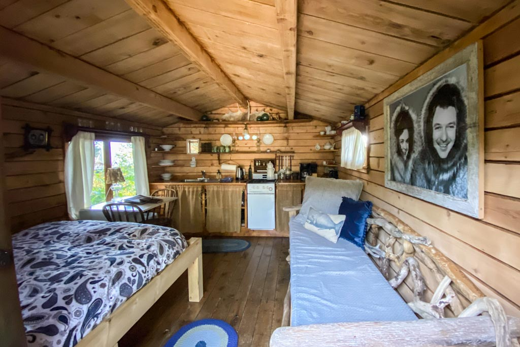 Pioneer Cabin, Between Beaches, MacDonald Spit, Kachemak Bay, Kasitsna Bay, Kenai Peninsula, Alaska