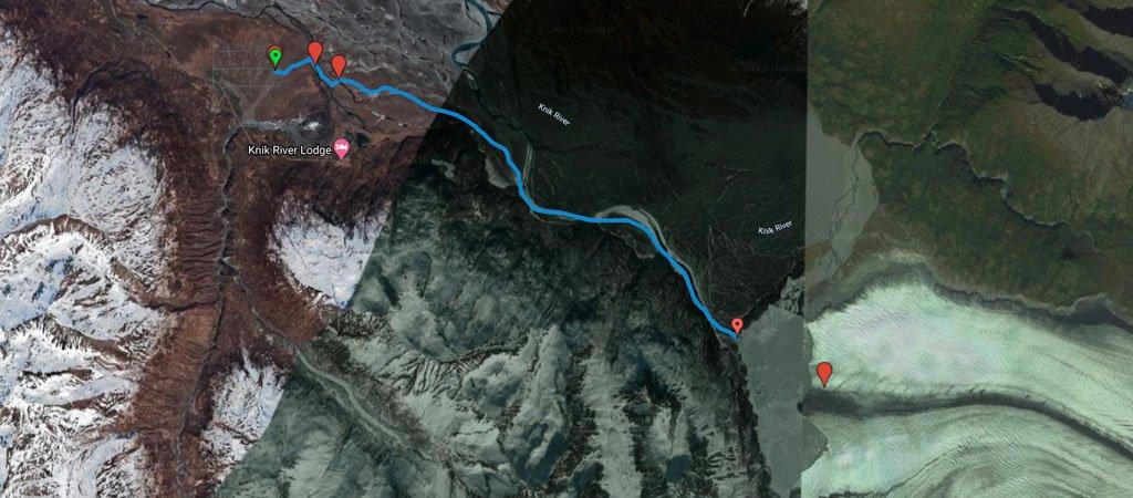 Knik Glacier Bike Route Map