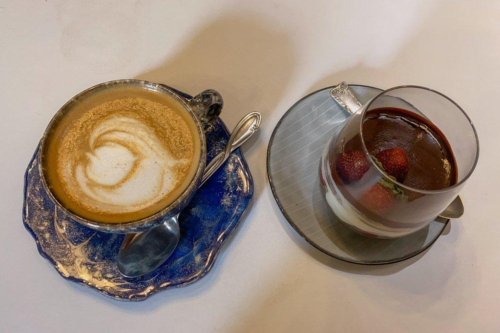 Cappuccino at Tartine, Dushanbe, Tajikistan, Tartine Cafe