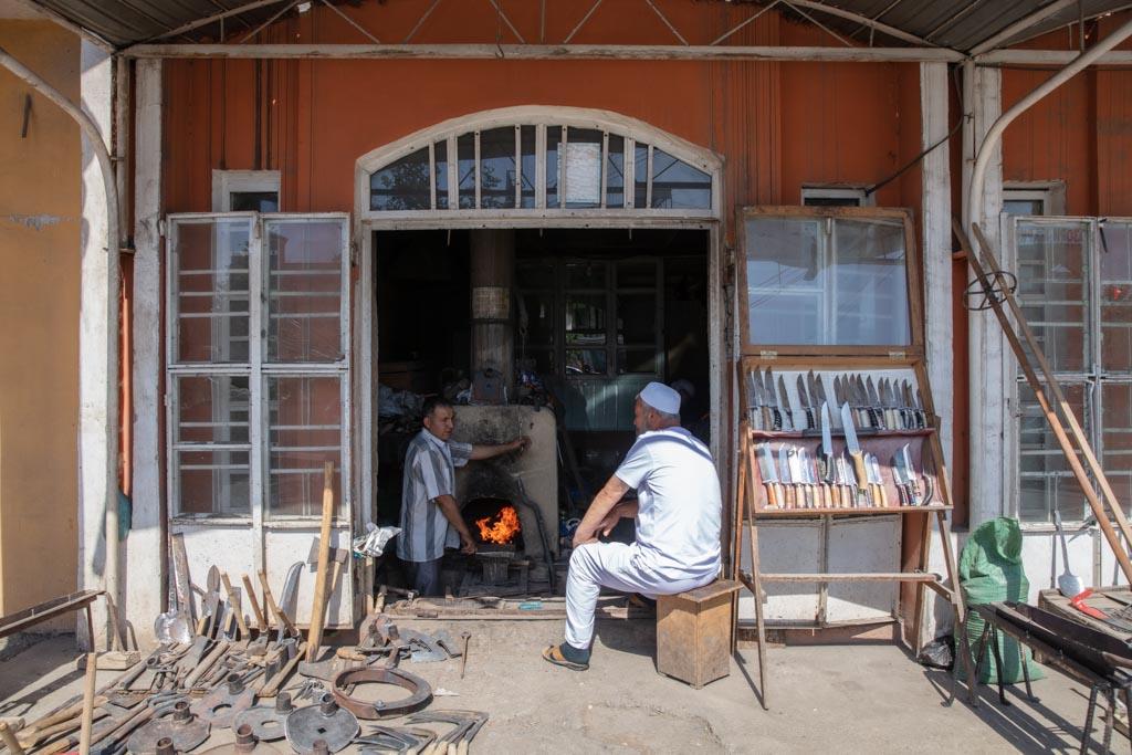 Blacksmith bazaar, Istaravshan, Tajikistan