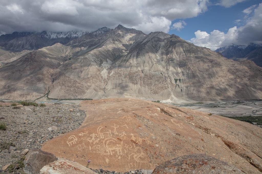 Langar petroglyphs, Langar, Tajik Wakhan, Tajikistan