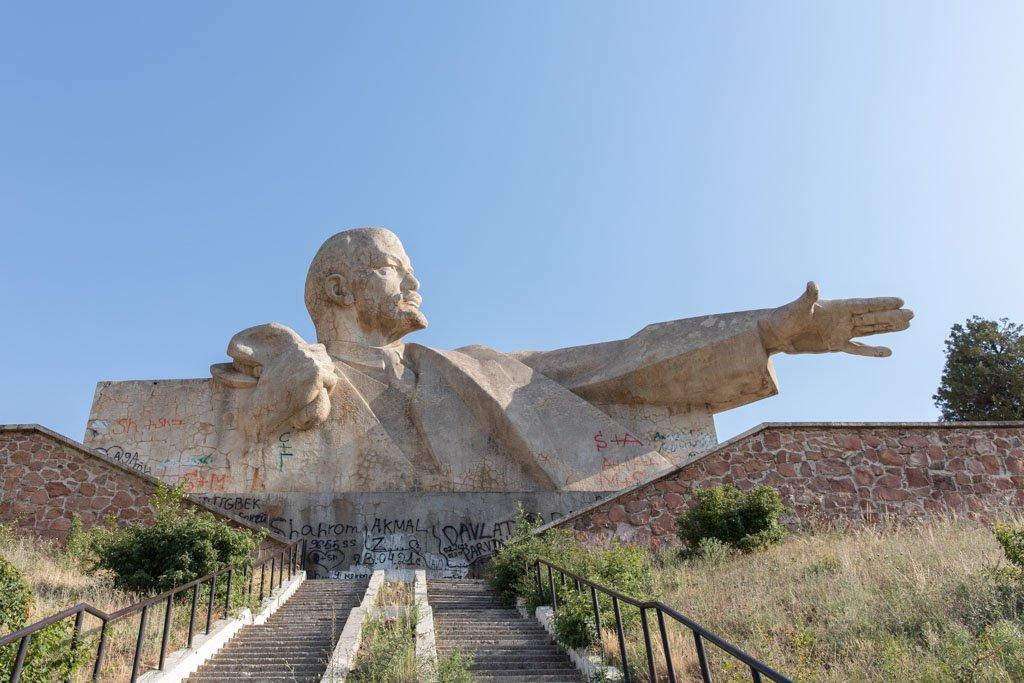 Lenin Bust, Istaravshan, Tajikistan