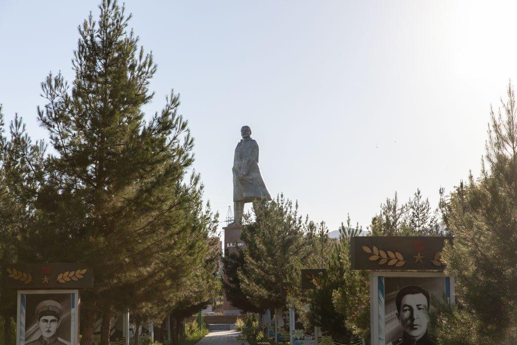 Lenin Statue, Victory Park, Khujand, Tajikistan